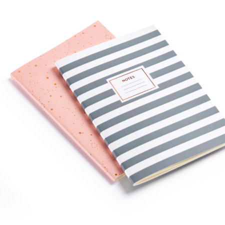 PACK 2 CUADERNOS A5 COSIDOS ROSE GREY 1309