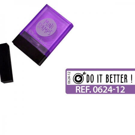 "SELLO ""DO IT BETTER"" INGLES MORADO"