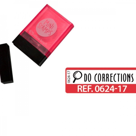 "SELLO ""DO CORRECTIONS"" INGLES ROJO"