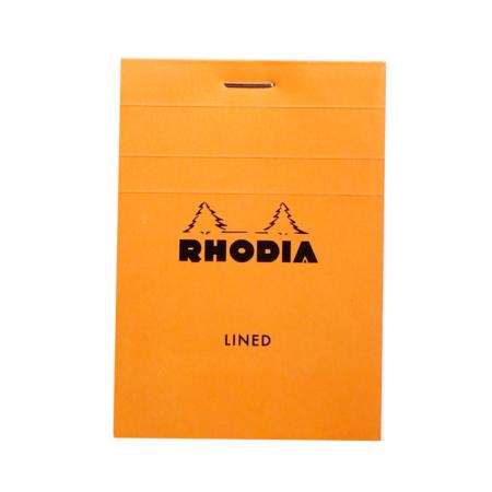BLOC RHODIA ORANGE GRAP. 80H, 80G 7,4X10