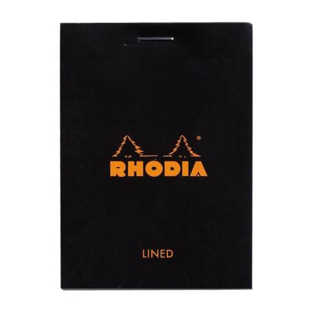 BLOC RHODIA BLACK GRAP. 80H , 80G 7,4X10
