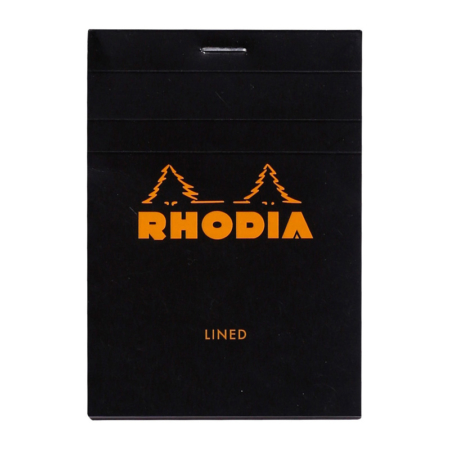 BLOC RHODIA BLACK GRAP. 80H, 80G 8,5X12