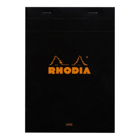BLOC RHODIA BLACK GRAP. 80H, 80G 14,8X21