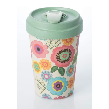 VASO TERMO DE BAMBÚ 400 ML FLOWER POWER