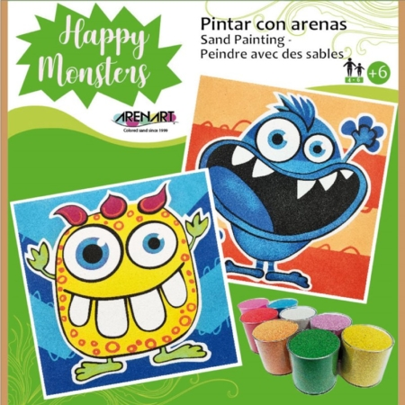 KIT PARA PINTAR CON ARENAS HAPPY MONSTERS
