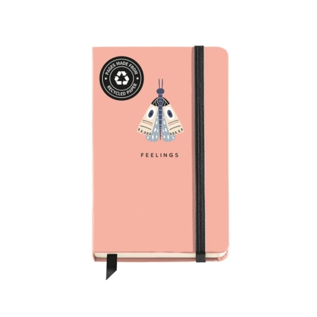 CUADERNO LOGBOOK 90X140 LISO NATURALLY BUTTERFLY