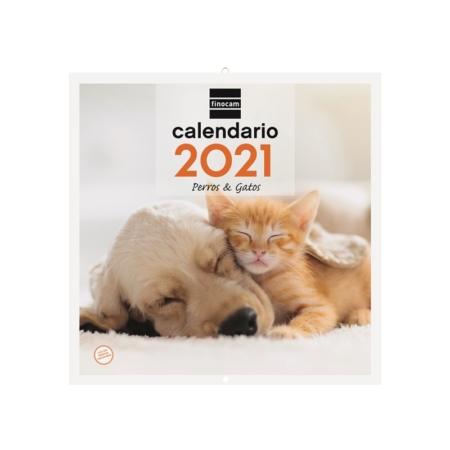 CALENDARIO FINOCAM PARED 30X30 2021 PERROS Y GATOS