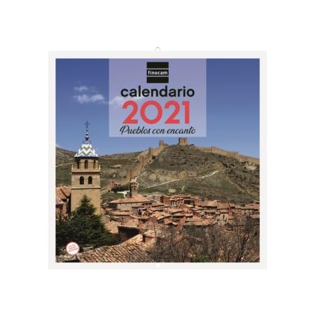 CALENDARIO FINOCAM PARED 30X30 2021 PUEBLOS CON ENCANTO