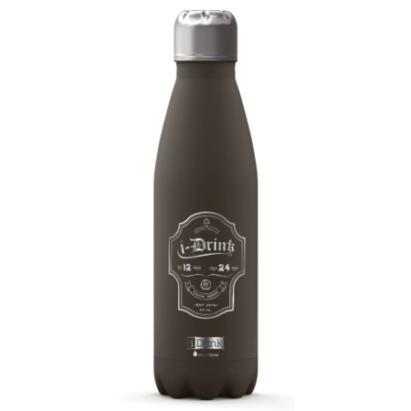 BOTELLA TÉRMICA I-TOTAL 500 ML LABEL GRIS