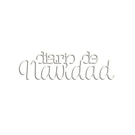 """METACRILATO ADHESIVO BLANCO """"DIARIO DE NAVIDAD"""" 10 X 3 CM TWELVE DE ELENA ROCHE"""