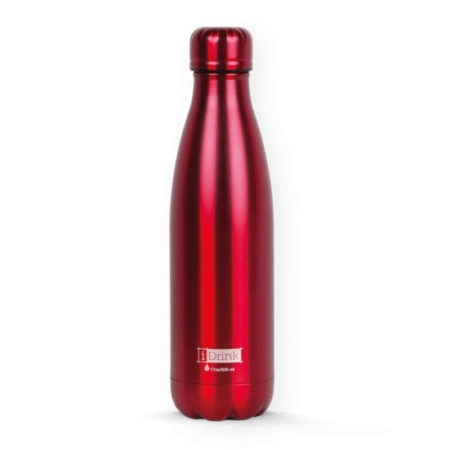 BOTELLA TÉRMICA I-TOTAL 500 ML ROJO METAL