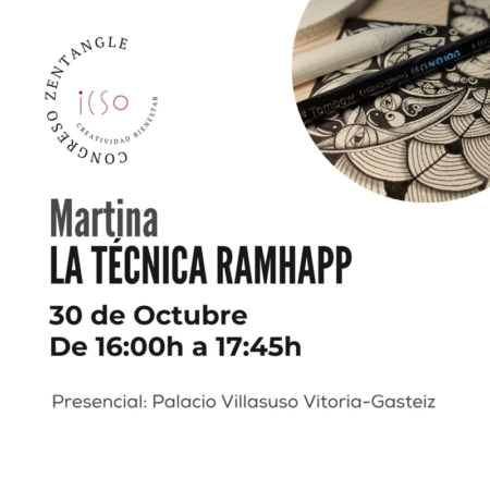 CURSO PRESENCIAL ZENTANGLE CON MARTINA RAMHAPP - 30 DE OCTUBRE - 16:00 A 17:45