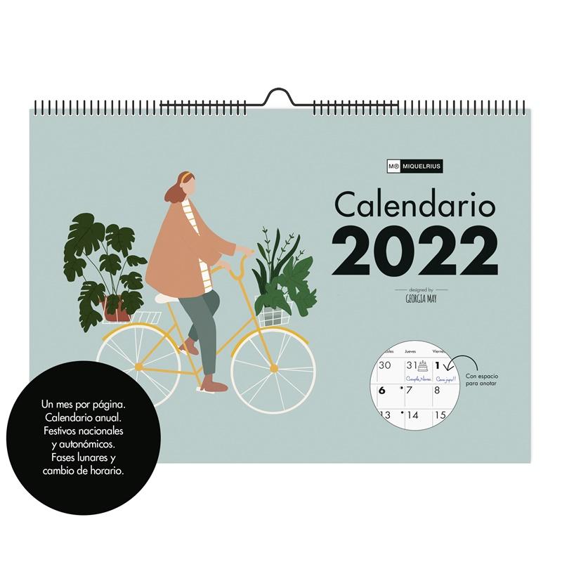 CALENDARIO DE PARED A3 CON ESPACIO PARA ESCRIBIR 2022 MIQUELRIUS SLOW LIFE
