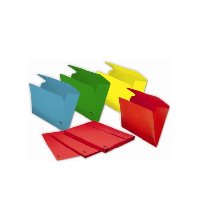 Pack de 50 subcarpetas GIO de 3 solapas A4 azul