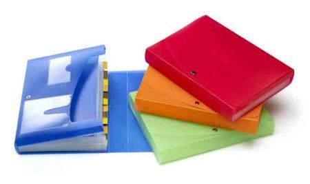 Clasificador acordeón Studio de plástico con 12 departamentos Pardo