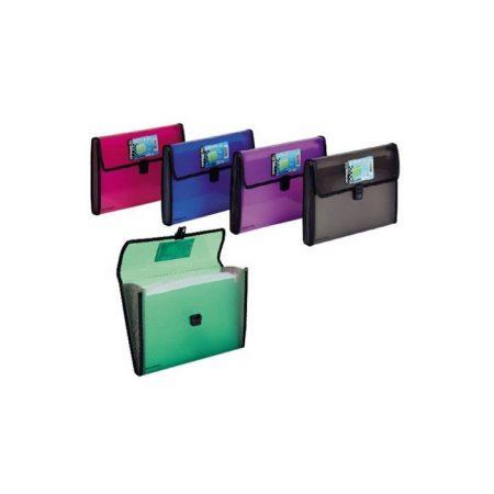 Clasificador de polipropileno con broche y 12 departamentos Foldermate