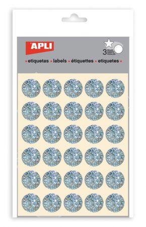 Sobre de gomets redondos metalizados Apli ø 20 mm