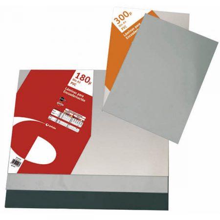 Paquete de 100 láminas de encuadernación Glaspack de PVC A4 de 180 μ Grafoplas