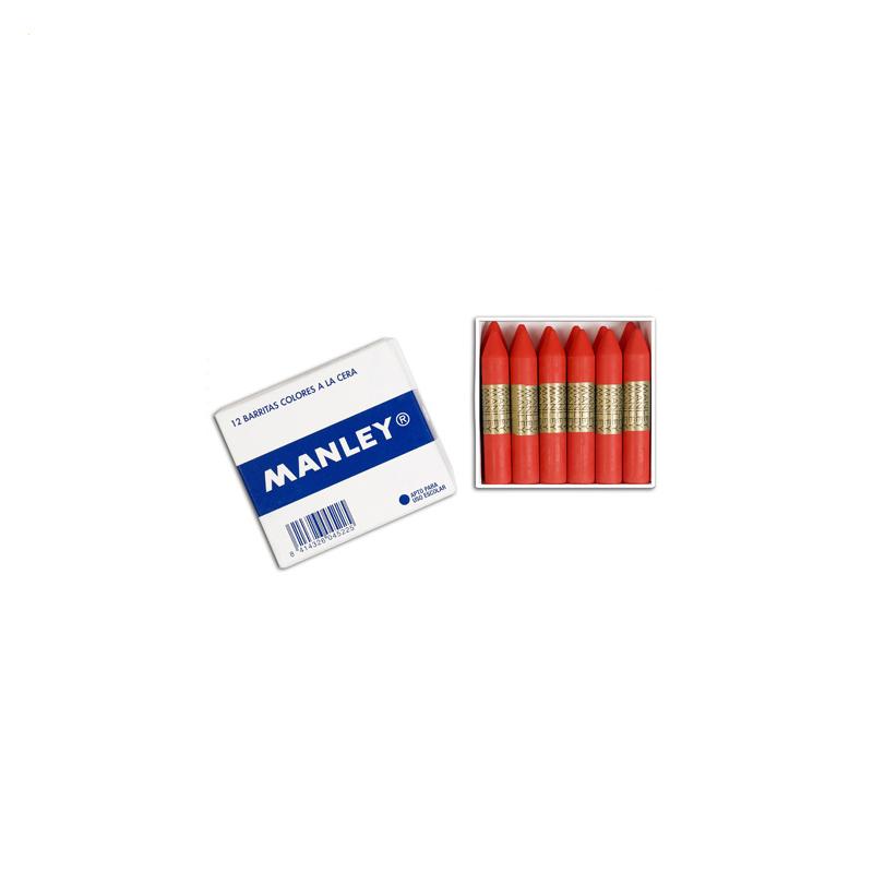 Caja de 12 ceras Manley Unicolor