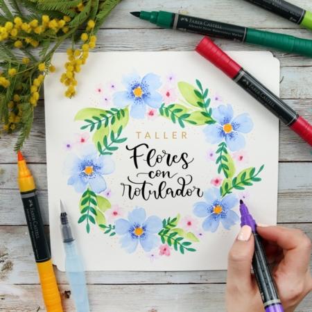 TALLER DE FLORES CON ROTULADOR ACUARELABLE - THE FLOWER JOURNAL